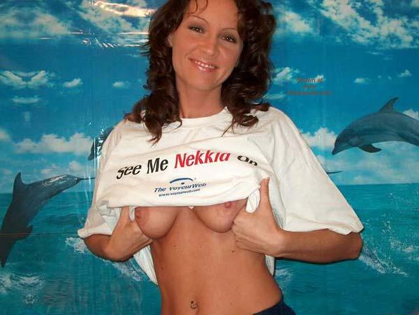Flashing Tits - Erect Nipples, Flashing Tits, Navel Piercing , Flashing Tits, Voyeur Web Tee Shirt, Belly Button Ring, Erect Nipples, Public Flash