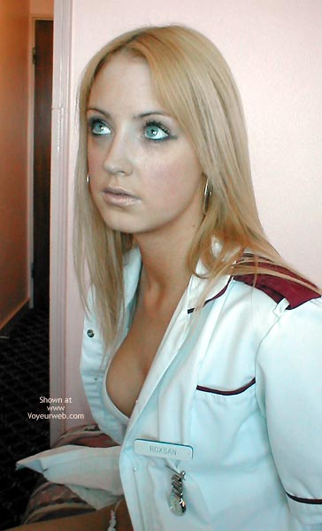 Nurses Bra - Bra, Long Hair , Nurses Bra, Lost In Sex, Blonde Woman, No Nudity, Nurses Uniform, Long Blond Hair, Showing Bra