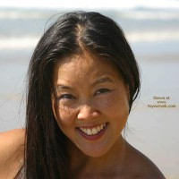 Asian Lani Nude at The Beach