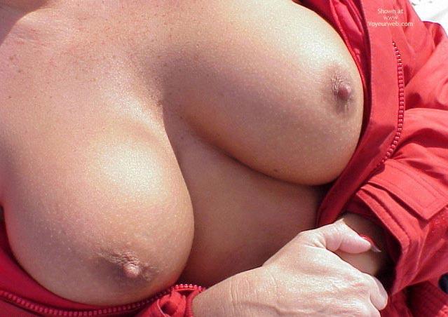 Big Tits - Big Tits, Erect Nipples , Big Tits, Erect Nipples, Red Jacket Freckeld Tits, Ski Jacket, Tiny Nipples