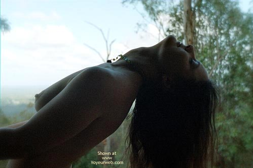 Erect Nipples - Erect Nipples, Nude Outdoors , Erect Nipples, Outdoor Nude, Shoulder Length Brunette