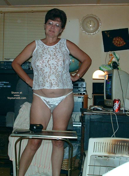 Pic #1 Marie at 49 in White Lace