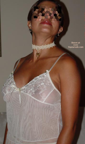 Pic #1 White Lace and Choker