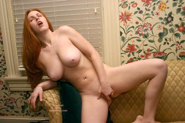 Big Tits And Fingers - On The Couch, Pleasure , Big Tits And Fingers, Red Head Fingering Herself On Couch, My Pleasure, Happy Finger, Pale Aerolas, Fingering Herself, Pendulous Pair, Redhead