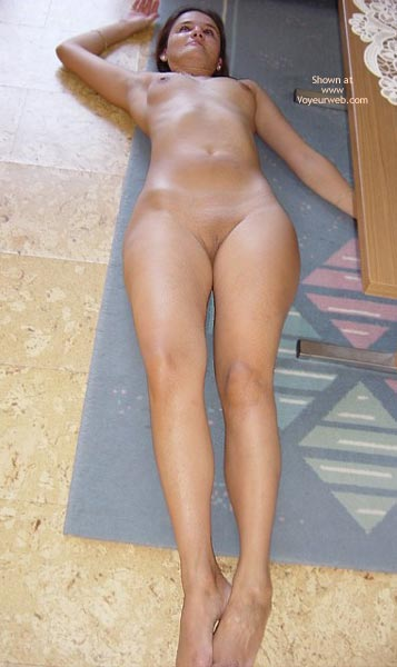 Nude babe on floor