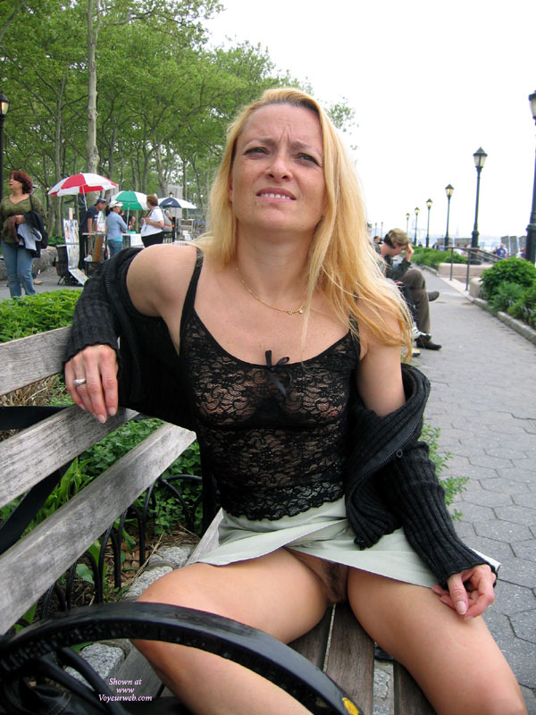 Flashing Pussy On Park Bench - Dark Hair, Flashing, Milf, Upskirt, Pussy Flash , See Thru Top, No Undies, Black Lace Top, See Through Top, Flashing Pussy Outdoors, Outdoor Seated Flash Pussy, Easy Access Skirt, Short Skirt, Split Skirt