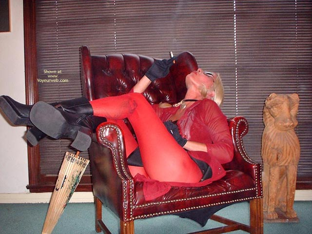 Pic #1 Emerson Style In Her Red Pantyhose
