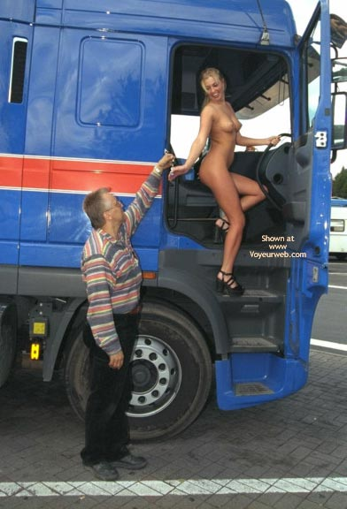 Pic #1 *PL Britta Nip Flirting with a Lorry Driver