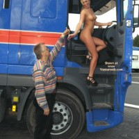 *PL Britta Nip Flirting with a Lorry Driver