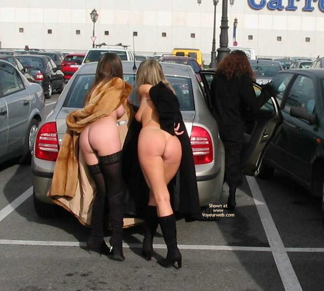 Two In One Photo - Nude In Public , Two In One Photo, Nude In Public, Fur Coats