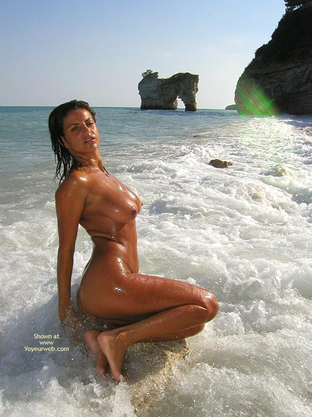 Body Surfing - Tan Lines , Body Surfing, Nude In Sea, Nude Fully Tanned, Tanned Breasts, Wet Tits, Full Body