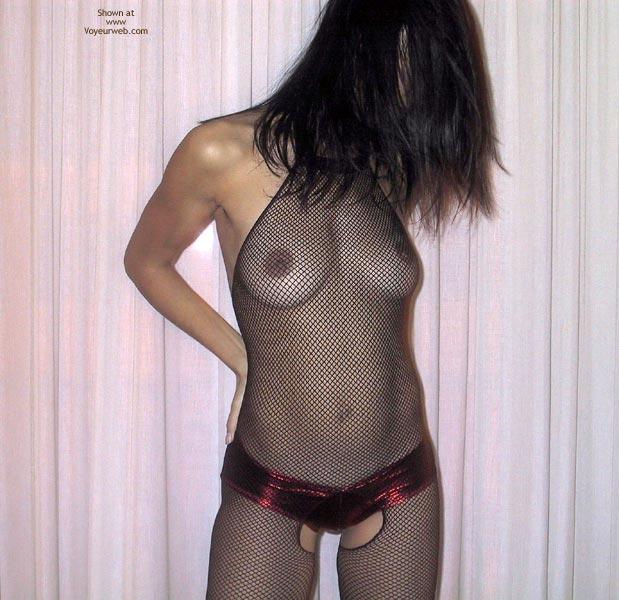 Pic #1 Mia Moglie Elisa In Net Bodystockings