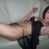 Black Lingerie On The Couch - On The Couch , Black Lingerie On The Couch, Black Babydoll