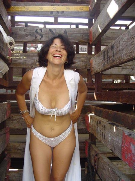 Barn Stall - Bra, Sexy Panties , Barn Stall, White Panties, Livestock, White Bra