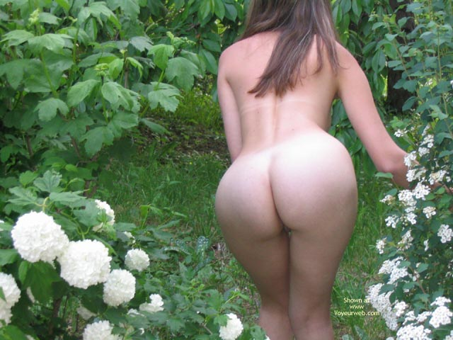 Nude Girl In Nature - Nude Outdoors , Nude Girl In Nature, Naked In The Garden, Outdoor Nudity, Ass In Garden