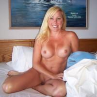 Clean Shaven - Bedroom, Blonde Hair, Tan Lines , Clean Shaven, Tan Lines, Blond Housewife Bedroom, Blonde