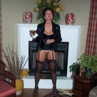Baby Doll Nipples and Stockings at Night