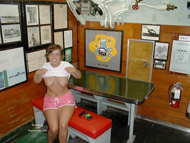 Pic #1 Wife on USS Alabama