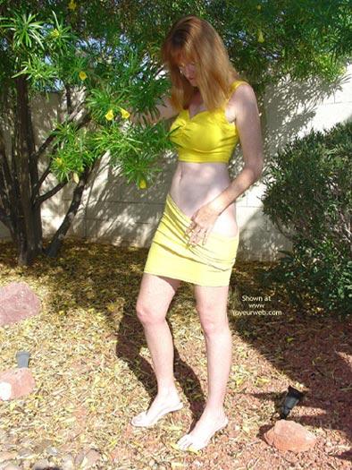 Pic #1 Redhead in Yellow