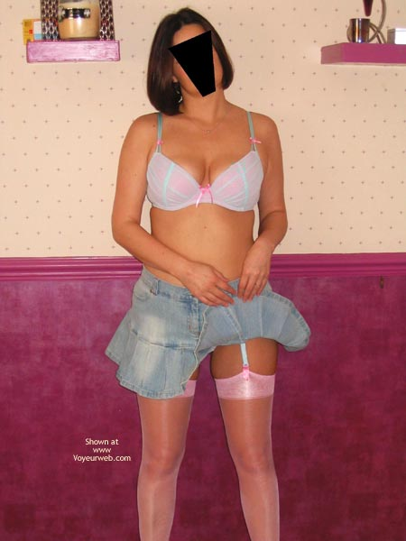 Pic #1*NL Crystal Buttocks, Short Skirt & Suspenders