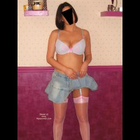 *NL Crystal Buttocks, Short Skirt & Suspenders