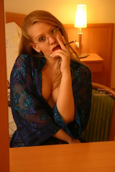 Pic #1 Sonia With Glasses, Smoking