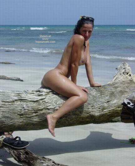 Sunglasses On Head - Nude Outdoors , Sunglasses On Head, Nude Outdoors, Nude At The Beach, Riding Trunk