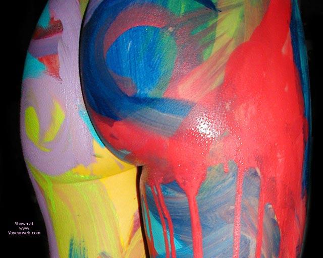 Festive Painting - Body Paint , Festive Painting, Body Painting, Standing Ass, Butt Paint, Body Splash, Body Paint, Colourful Ass, Painted Ass