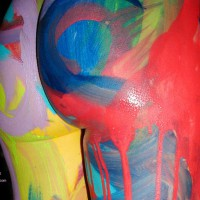 Festive Painting - Body Paint , Festive Painting, Body Painting, Standing Ass, Butt Paint, Body Splash, Body Paint, Colourful Ass, Painted Ass