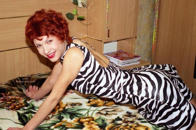 Pic #1 Helen Undressed Zebra Dress And Bikini