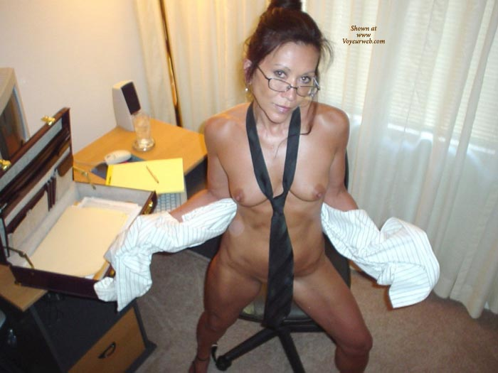 amateur nude at the office