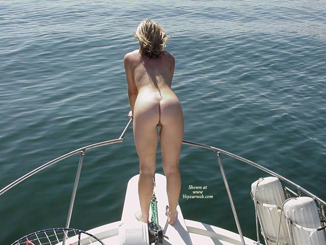 Nude on a yacht
