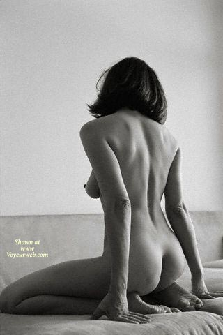 Black  White Nude , Black  White Nude, Nude Shot From Behind, Bw, Teardrop Boobs, Artistic Nude