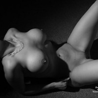 Black And White Nude Busty Wife - Big Tits, Spread Legs, Bald Pussy, Nude Amateur, Nude Wife , Posing Tits, Black And White, Mountains Of Shadow, Large Tits, Lying On Floor, Shoulders In Chest Out