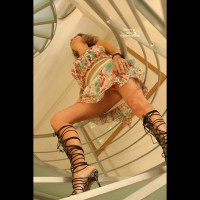 Upskirt View - Stairs, Upskirt , Upskirt View, Upskirt, Stairs, Strappy Sandals