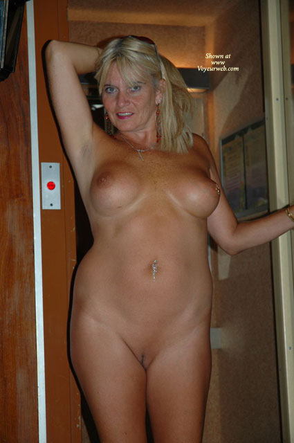 Mature Shaved Pussy - Navel Piercing, Shaved Pussy , Mature Shaved Pussy, Mature Nice Boobs, Belly Ring, Sun Glasses On Head, Fondeling Hair