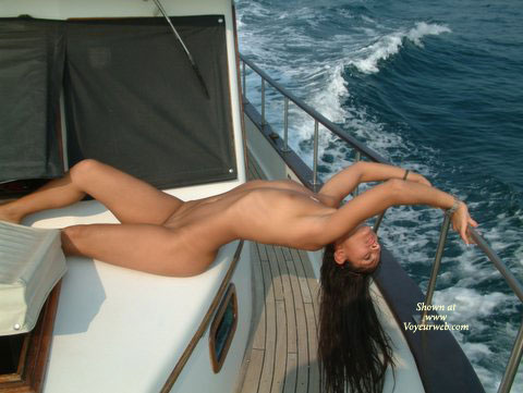 Hot At Sea - Long Hair, Nude On Boat , Hot At Sea, Long Stretch, Long Hair, Nude On Boat, Nude At Sea