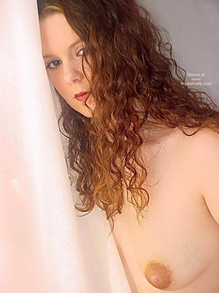 Puffy Nipple - Pale Skin , Puffy Nipple, Long Curly Brown Hair, Pale Skin, Large Aerola