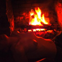 Alex Gets Naked By Firelight