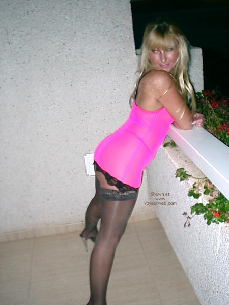 Pic #1 Slut Wife In Pink Dress