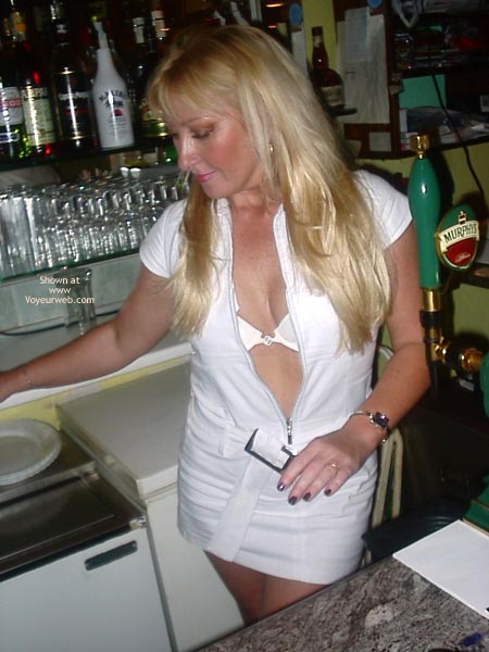 Pic #1 Sex Mad Slut Serving Behing The Bar