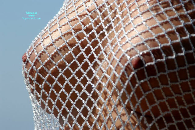 Closeup Of Firm Tits Under Braless Fishnet Blouse - Erect Nipples, Firm Tits, Natural Tits , Fishnet Blouse Of Beads, Fishnet Over Nipples, Tanned Boobs, Beaded, 1/2 Inch Open Diamond Net Blouse Braless, Close Up, Only Breasts, Fishnet Boobs, Tanned Natural Tits