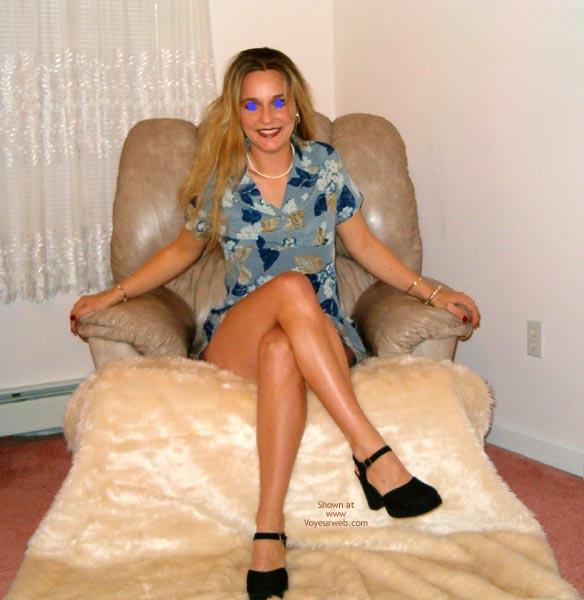 Pic #1 Adrianna Soprano'S Sexy Blue Sundress