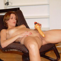 Relaxing With A Dildo
