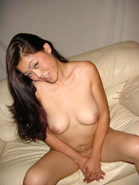 Oriental Delight - Brunette Hair , Oriental Delight, Naked On The Couch, Saucy Brunette, Brunette Boobs, Nude Asian, Asian Tits
