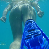 Nude Snorkling - Naked Girl, Nude Amateur , Underwater Nude, Underwater Rear View, Beautiful Butt, Underwater Nude Ass From Below