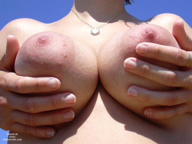 Breast Closeup - Full Frontal Nudity, Hand Bra, Large Breasts, Titties , Breast Closeup, Tit Holding, Hand Bra, Frontal Shot, Cleavage From Below, Huge Aereole