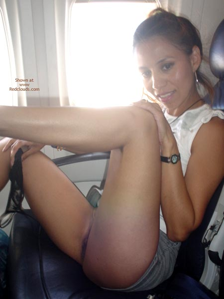 Ultra Short Skirt - Nude In Public, Skirt , Ultra Short Skirt, Nude On A Plane, Panties On Hand In Public, Black Panties On Hand