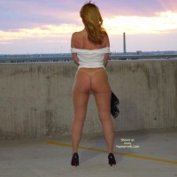 Full-length Partially Nude , Full-length Partially Nude, Nude Pantyhose On Legs And Ass, Sunset Showing Ass