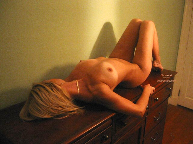 Arching Back , Arching Back, Naked On Desk, Perky Pink Nipples